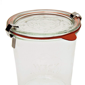 six half-liter weck jars