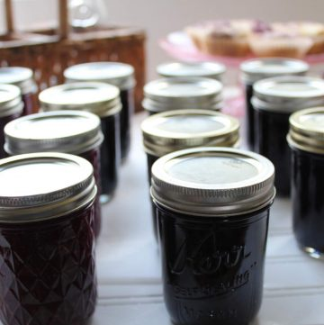 marionberry jam rows of jam