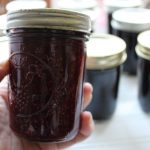 holding marionberry lavender jam