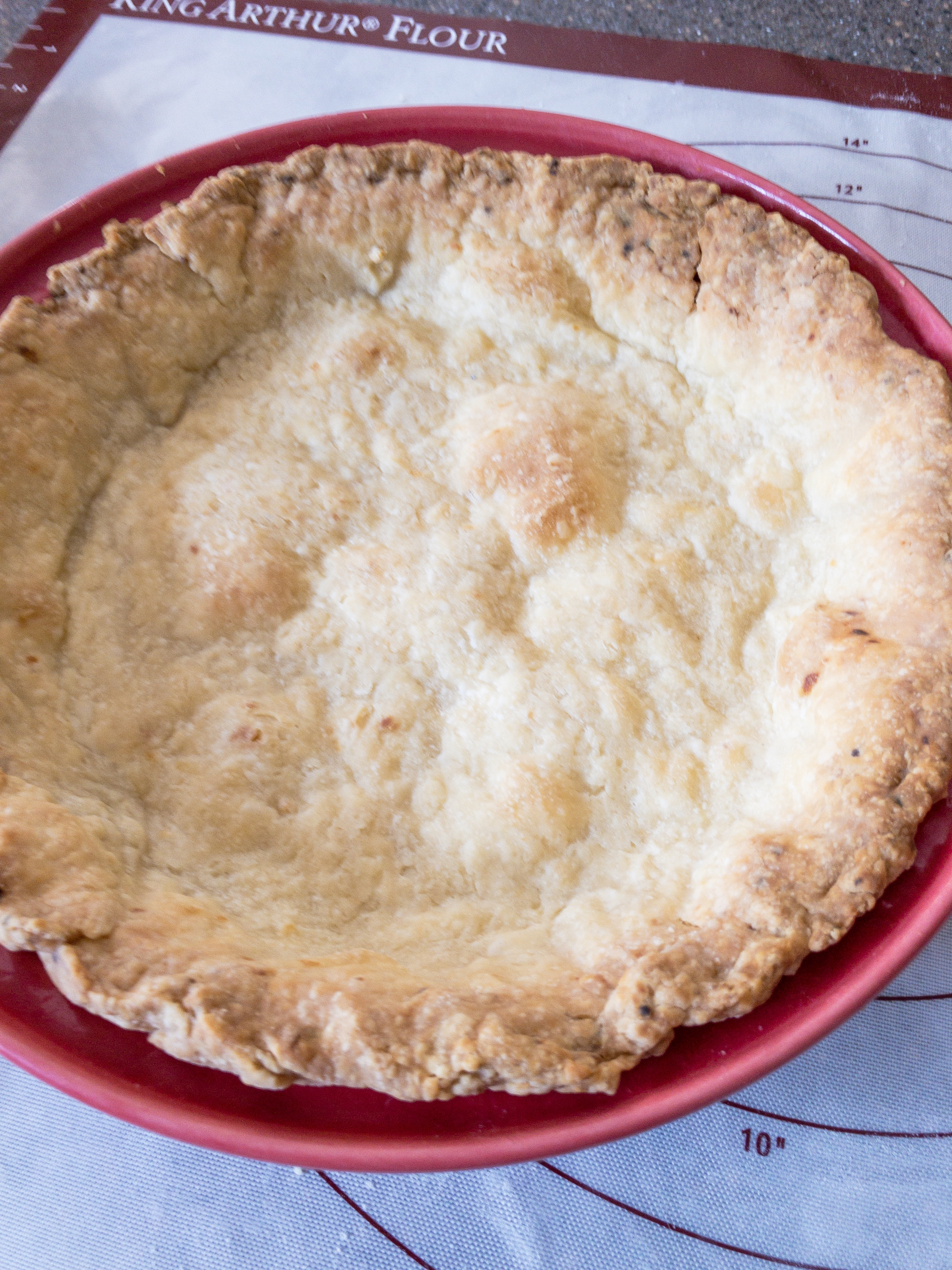 baked pie crust without chilling first