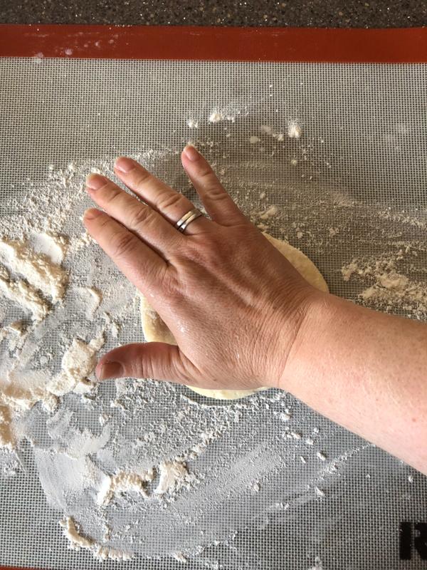 forming pita bread