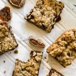 fig and dark chocolate oatmeal bars cute and one eaten