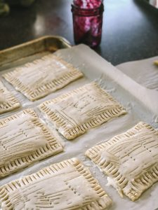 marionberry pop tarts ready for oven