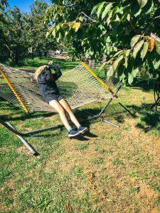 Elsie on hammock