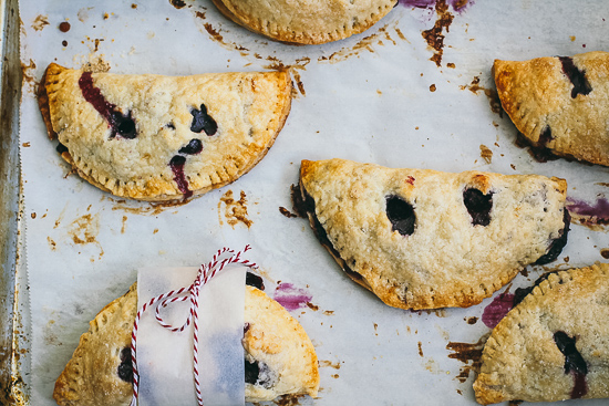 blueberry apple turnover overhead