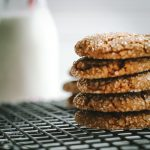 ginger cookies2 stacked on rack