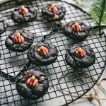 chocolate peppermint cookies on wire rack