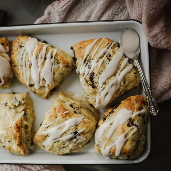 blood orange dark chocolate scones